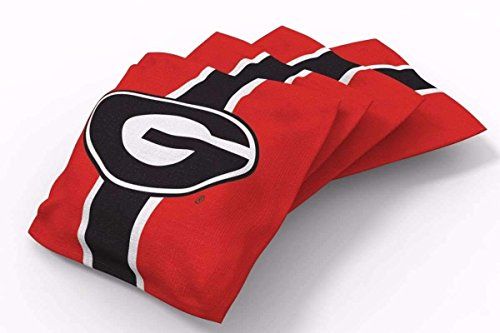 Georgia Bean Bag - PROLINE 6x6 NCAA College Georgia Bulldogs Cornhole Bean Bags - Stripe Design (B)