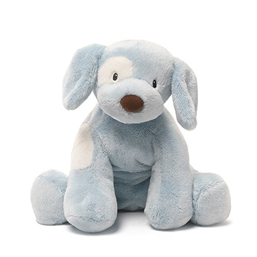 Baby GUND Spunky Dog Stuffed Animal Plush, Blue, (Blue Spunky Puppy)