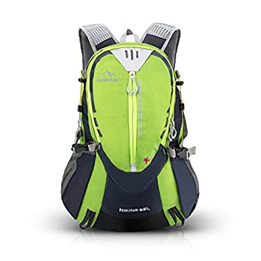 Hiking Cycling Backpack, Sunhiker Sports Outdoor Backpack Bag Running Camping Backpack Water Resistant Lightweight SMALL Daypack 25L M441 (Green)