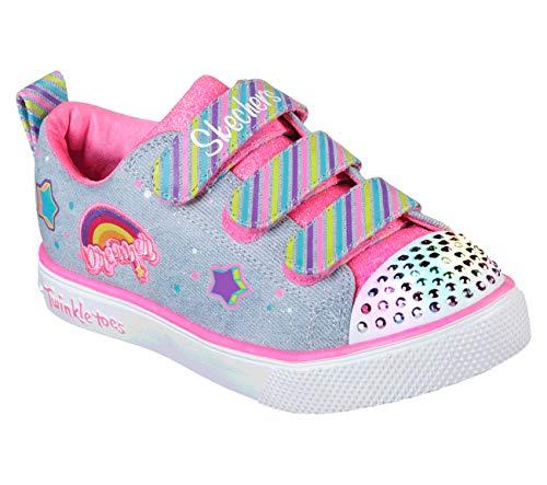 - Skechers Kids Girls' Twinkle Breeze 2.0-Dazzle DRE Sneaker, Light Denim/Multi, 3 Medium US Little Kid