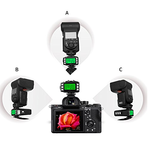 Pixel King Pro Flash Trigger,1/8000s 2.4Ghz,TTL HSS LCD Screen,Transceivers with PC Port for Sony Mi Shoe Cameras A7 A7R A7RII A6300 A65 A77II RX10III and Strobe Studio Light by PIXEL (Image #9)