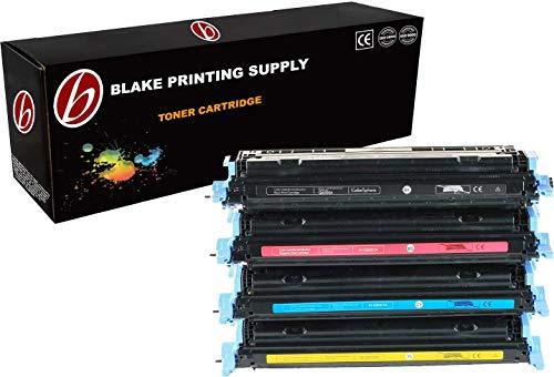 (4 PACK Compatible HP CE257A / 124A / Q6000A / Q6001A / Q6002A / Q6003A Black, Cyan, Magenta, Yellow Toner Cartridge Compatible with HP Color LaserJet CM1015mfp, Color LaserJet CM1017mfp, Color LaserJet 1600, Color LaserJet 2600n, Color LaserJet 2605dn, Color LaserJet 2605dtn Ink © Blake Printing Supply)