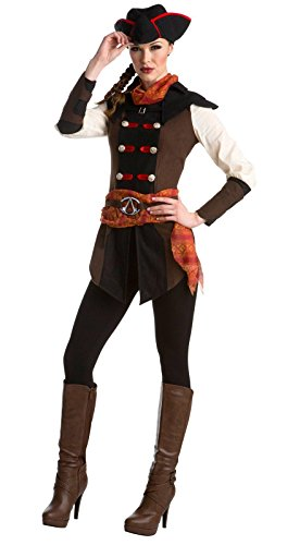 Palamon Women's Assassin's Creed Aveline Classic Costume, Brown, Small (Assassin Halloween Costumes)
