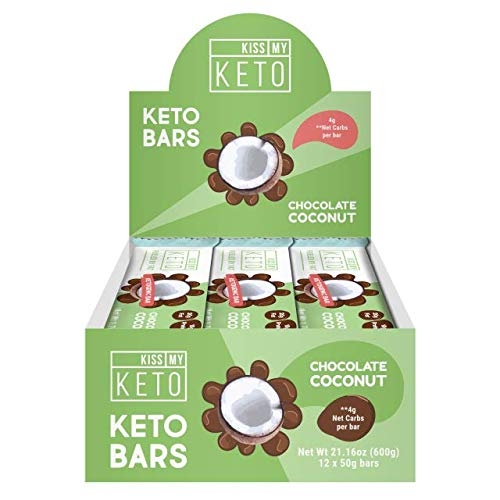 Kiss My Keto Snacks Keto Bars - Keto Chocolate Coconut (3 Pack, 36 Bars), Nutritional Keto Food Bars, Paleo, Low Carb/Glycemic Keto Friendly Foods, All Natural On-The-Go Snacks, 4g Net Carbs by Kiss My Keto (Image #2)