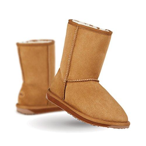 EMU Australia Stinger Lo Womens Sheepskin Boot Stingers in Chestnut Size - Boot Chestnut Lo