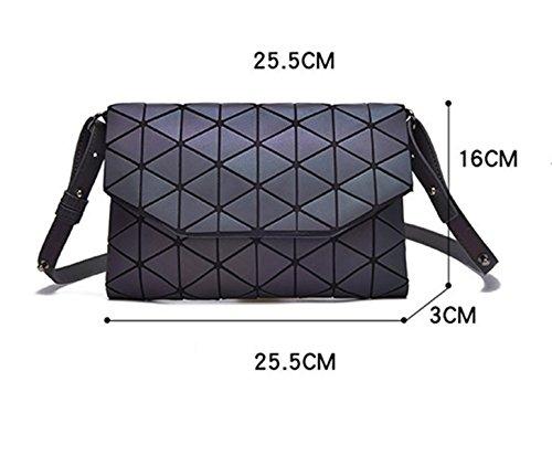 Luminous For Shoulder Crossbody Lattice 1 Women Bags Geometric Shard Small PU Leather Purse SqHHPw