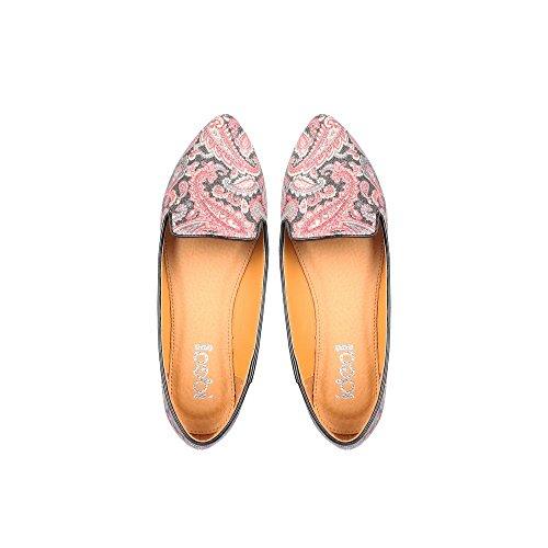 Ideal Shoes Ballerinas Slip-On Glitzer à Imprimés paputschen Schwarz