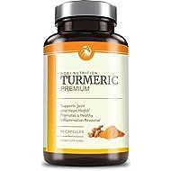 Premium Turmeric Curcumin 1500mg Max Potency with 95% Curcuminoids, BioPerine Black Pepper & Enhanced With Spirulina - Superior Absorption, Natural Anti-Inflammatory & Joint Support, 90 Capsules