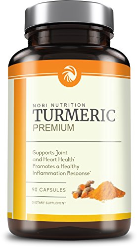 Nobi Nutrition's Premium Turmeric Curcumin 1400mg with 95% Curcuminoids & BioPerine Black Pepper Superior Absorption - Natural Anti-Inflammatory
