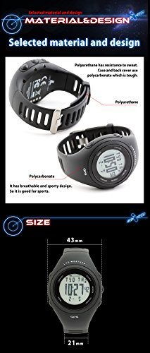 [LAD WEATHER] GPS Running Watch Auto Lap/Odometer/PC Connection/Calorie Counter GPS Unit Walking/Training Sport Watch
