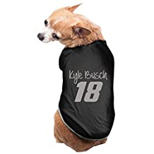 Black Kyle Busch Concepts Sport Dog Jackets Doggie Clothes