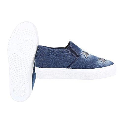 Ital-Design - Zapatillas de casa Mujer Blau 339-Y