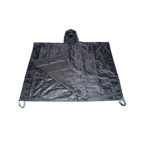 Poncho All Weather Rain Coat - BLACK (Army All Weather Coat)