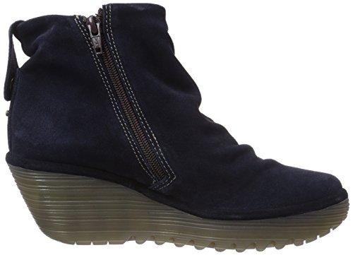 Fly London YOAK - botas de caño bajo de cuero mujer azul - Blau (Navy 010)
