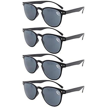 aa964f99f26 Eyekepper 4-Pack Round Full Coverage Ultrathin Flex Frame Reading Glasses  Readers Sunshine Readers +
