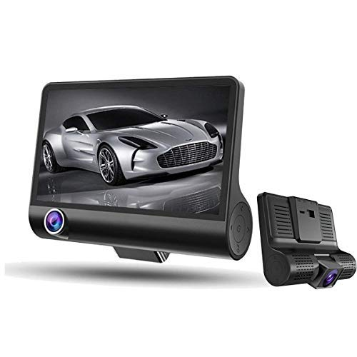 Dash Cam, Car Camera Dashboard Camera Recorder Dual Camera Car DVR Inside - Outside Surveillance1080P HD Night Vision, Wide-angle Car Video Recorder with 4 inch Display Video G-Sensor Loop Recordin
