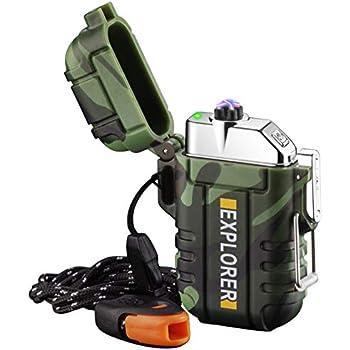 Waterproof Bushcraft,Survival. Windproof Rechargeable Dual Arc Plasma Lighter
