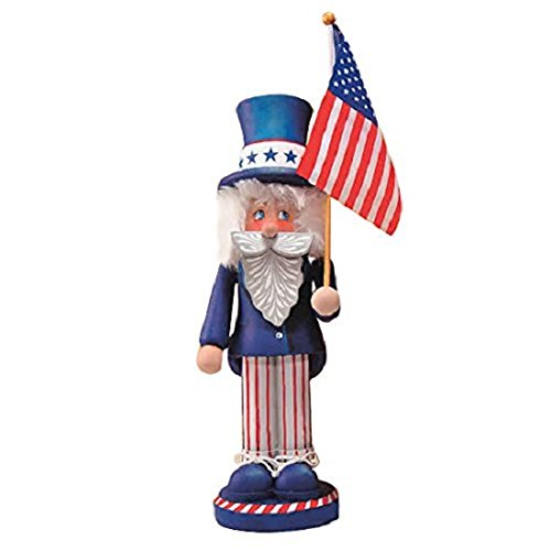 Zim's Heirloom Patriotic Uncle Sam Want You Wooden 14 Inch Nutcracker ()