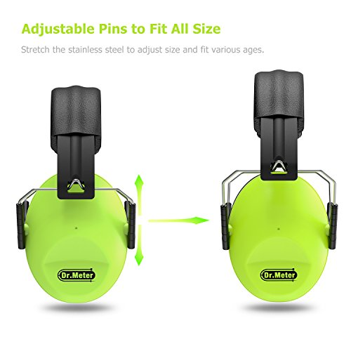 drmeter-kids-noise-reduction-earmuffs-with-27-nrr-hearing-protection-earmuffs-for-shooting-sleeping-and-studying-green-2-packs