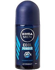 Nivea Men Deodorant Roll-On, Cool Powder, 50ml