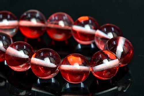 10MM Red Mystic Aura Quartz Beads Grade AAA Round Gemstone Loose Beads 7.5