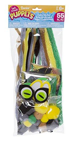 Darice SP507D 55 Piece Puppets Supplies