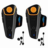 Motorcycle Bluetooth Headset Fodsports BT-S2 Pro Intercom Helmet Communication System for Motorbike Skiing