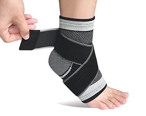 Plantar Fasciitis Socks,Compression Ankle Brace Sleeve with Arch Support for Eases Swelling&Achilles Tendonitis Heel Spurs Swelling Foot Pain Relief-Single