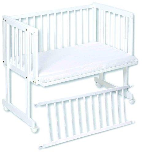 Easy Baby 160-12 Beistellwiege Dream und Drive inklusiv Matratze, weiß