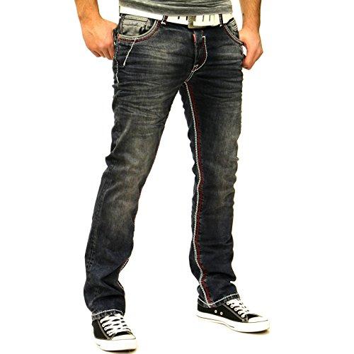 RN8323-31 Herren Jeanshose Jeans Herrenjeans Männer Herrenhose Hose Denim Hose, Farbe:Blau, Weite / Länge:34 / 34