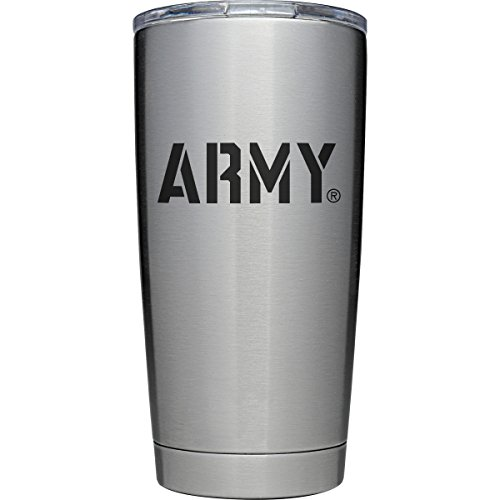 YETI Officially Licensed Collegiate Series Rambler, 20oz Tumbler with MagSlider Lid, Army