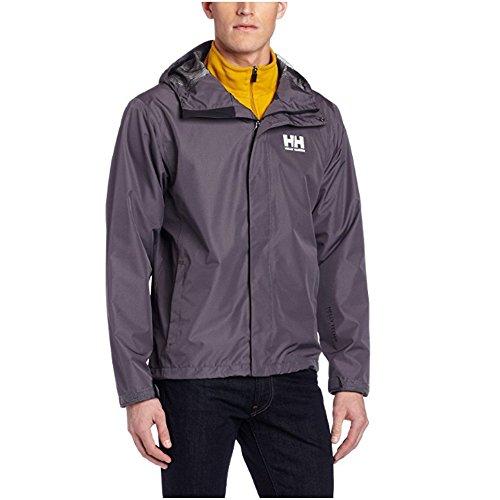 Helly Hansen Men's Seven J Waterproof Windproof Breathable Rain Coat Jacket, 964 Charcoal, Small - Winter Ply Liner
