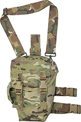 Gas Mask Model: FireForce item # 8101 Drop leg Gas Mask Pouch with quilted padded back Made in USA by Fire Force Tactical Gear :: Gas Mask Bag :: Army Gas Masks :: Best Gas Mask