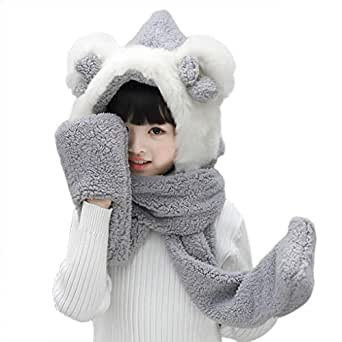 Image Unavailable. Image not available for. Color  Kids Soft Plush Faux Fur  Hat Scarf Mitten Combo ... 7aca55f8273