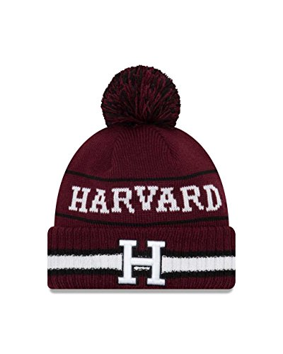 New Era Harvard Crimson College Vintage Select Knit Pom Beanie - Maroon, One Size