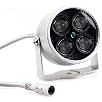 CISNO 4 IR Infrared LED Waterproof Outdoor Illuminator Night Vision Light For CCTV Camera Cam