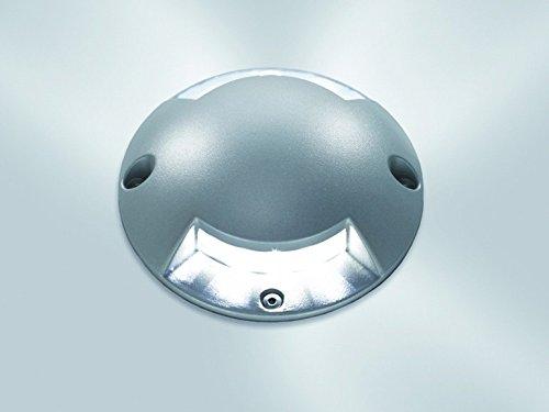 Faretto calpestabile LED da esterno 3w effetto luce radente a due finestre IP65 Planetitaly