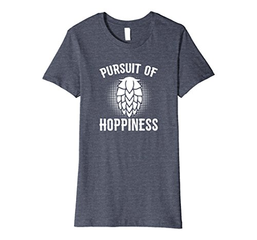 Womens In Pursuit of Hoppiness Premium | Craft Beer Brewing Gift Medium Heather Blue