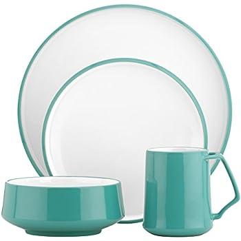 DANSK Kobenstyle 4-Piece Place Setting Teal  sc 1 st  Amazon.com & Amazon.com | Dansk Kisco Dinnerware 16 Piece Set - Taupe: Dinnerware ...