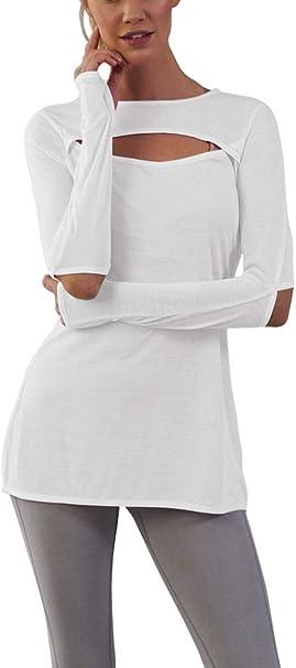Amazon.com: Bestisun - Camiseta de manga larga para mujer ...