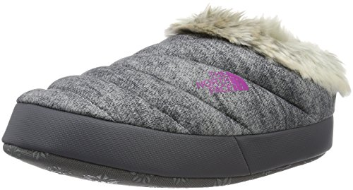 The North Face W Nse Tent Mule Faux Fur Ii, Zapatillas de Senderismo para Mujer Gris / Rosa