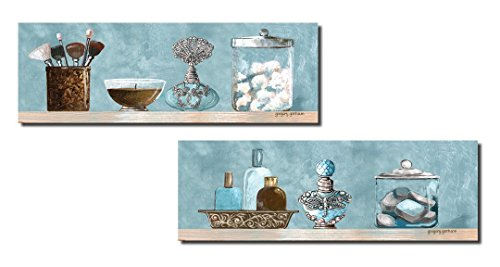 Top best 5 bathroom decor wall art for sale 2016 product for Blue and brown bathroom sets