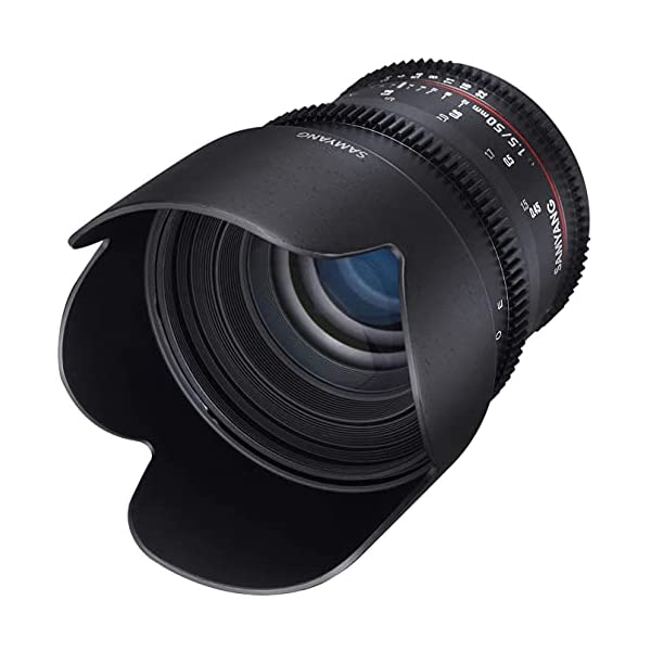RetinaPix Samyang 50mm T1.5 AS UMC VDSLR Cine Lens for Canon DSLR Cameras