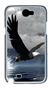 3D Eagle Custom Designer Samsung Galaxy Note 2/Note II / N7100 Case Cover - Polycarbonate - White