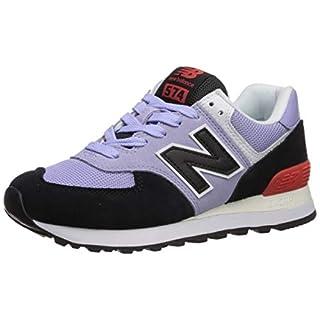 New Balance Women's 574 V2 Sneaker, Clear Amethyst/Black, 7 W US