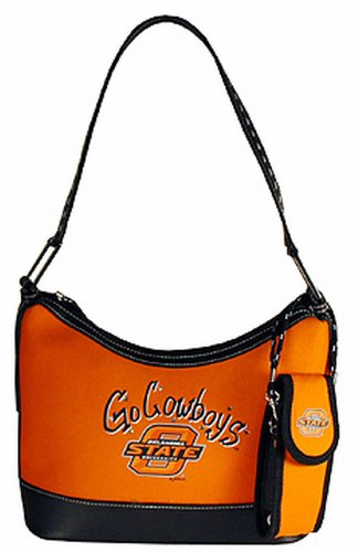 NCAA Oklahoma State Cowboys Ladies Oval Saddle Purse