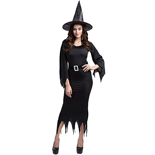 Herebuy8 The Great And Powerful Women's Wicked Witch Costume Hat Suit with Belt (XL) (Medusa Plus Size Costume)
