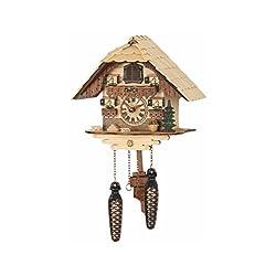 Quartz Cuckoo Clock Black forest house with music TU 472 QM