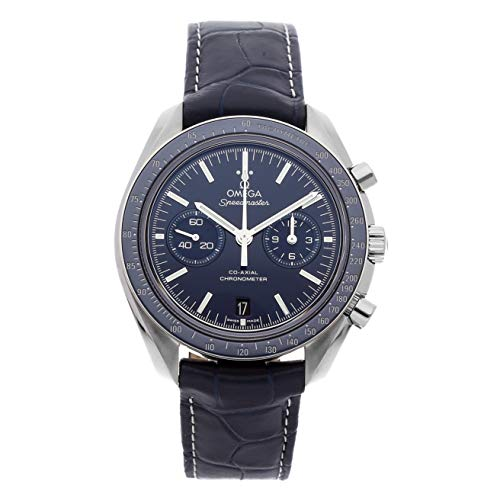 Omega Titanium Bracelet - Omega Speedmaster Mechanical (Automatic) Blue Dial Mens Watch 311.93.44.51.03.001 (Certified Pre-Owned)