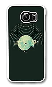 VUTTOO Rugged Samsung Galaxy S6 Case, Mountains Balloon Abstract Illustration PC Case Cover for Samsung Galaxy S6 Transparent